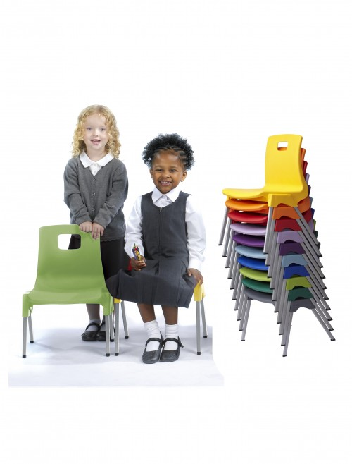Metalliform ST Chairs - Age 3-4 Years Polypropylene Classroom Chairs ST1