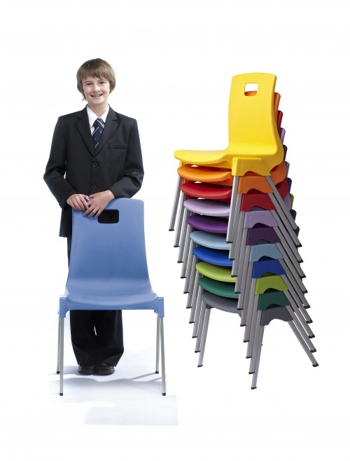 Classroom Chairs - Metalliform ST Chairs - Age 11-14 Years Polypropylene Classroom Chairs ST5