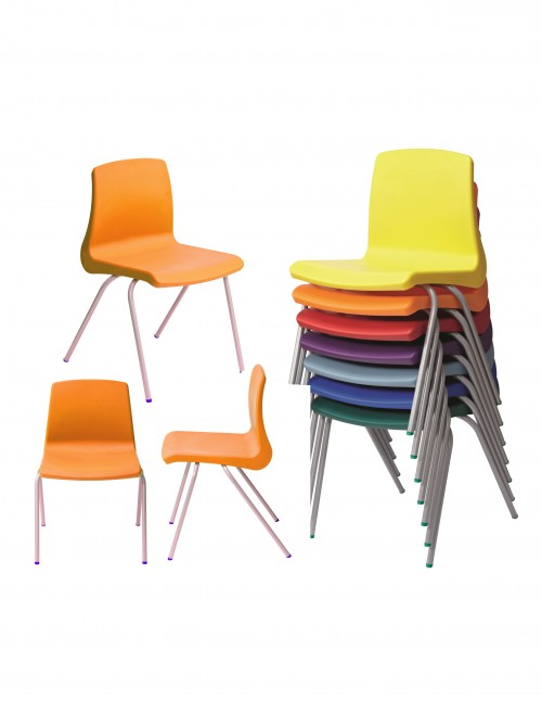 Metalliform NP Chairs - Age 6-8 Years Polypropylene Classroom Chairs NP3
