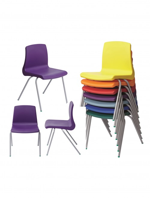 Metalliform NP Chairs - Age 3-4 Years Polypropylene Classroom Chairs NP1