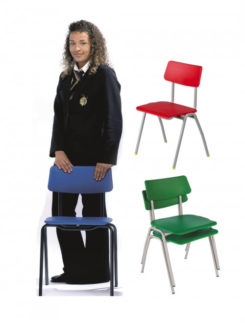 Classroom Chair Metalliforms BS Chairs - Age 14+ Years Polypropylene Classroom Chairs BSF