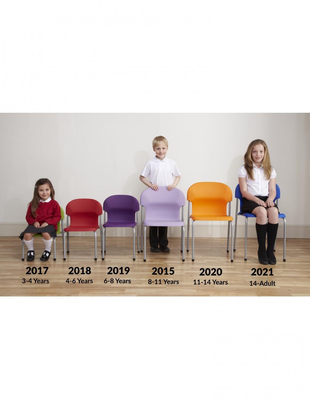 Metalliform Chair 2021 Polyprop Stacking Classroom Chair 121