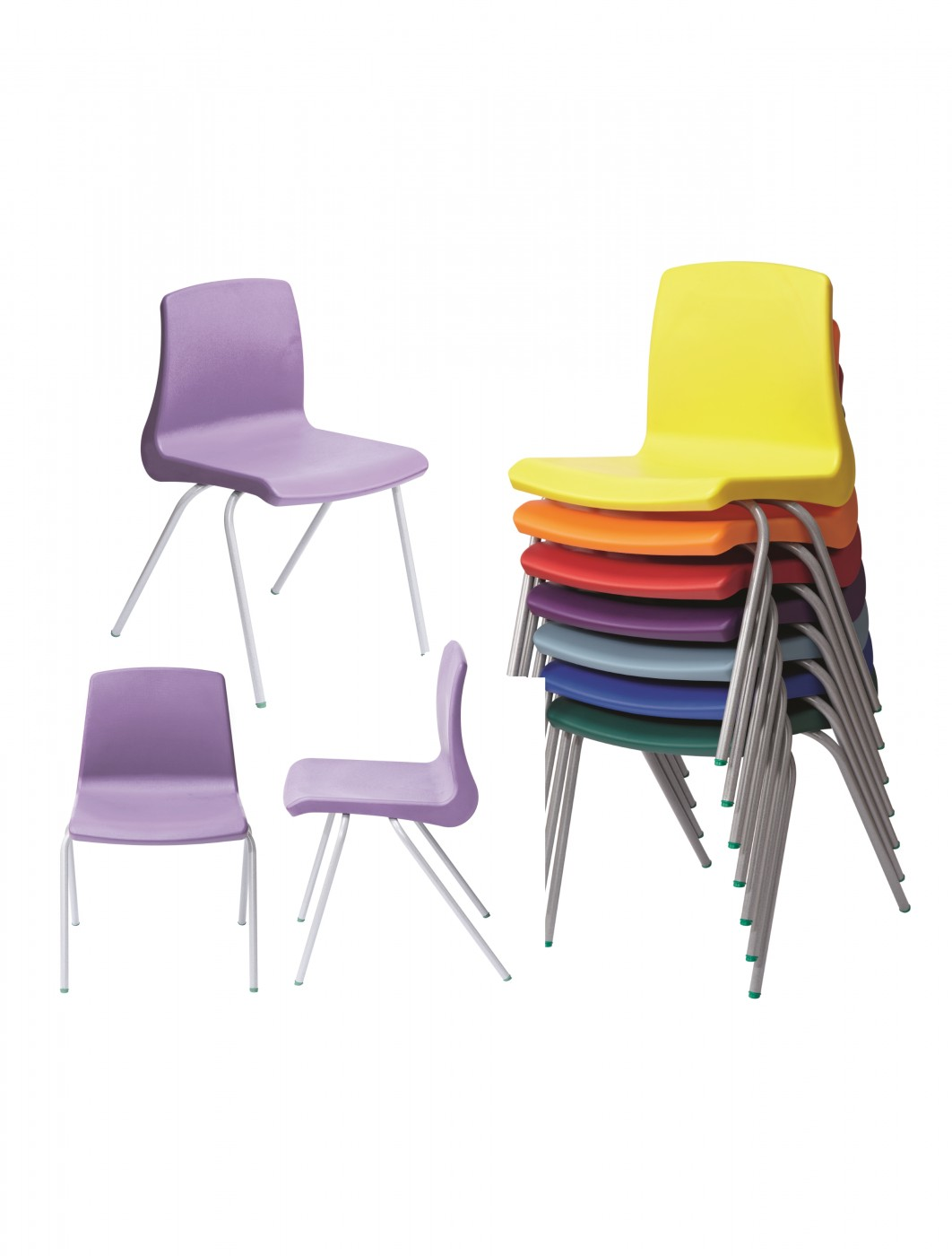 Metalliform NP Chairs   Age 14+ Years Polypropylene Classroom Chairs NP6    Enlarged View