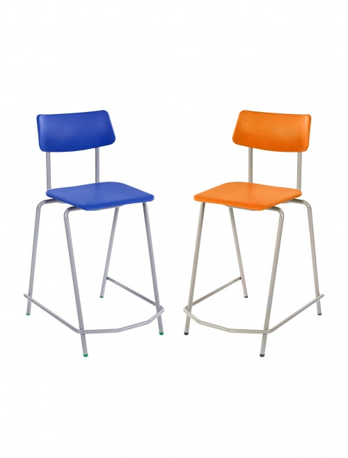 Metalliform BS Classroom Chairs - 640mm Polypropylene Classroom High Chairs MS127