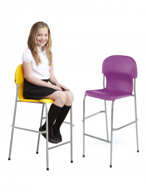 Metalliform Chair 2000 High Chairs - 670mm Polypropylene Classroom High Chairs 2105