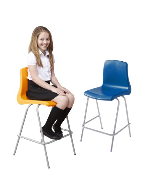 Metalliforms NP High Chairs - 610mm Polypropylene Classroom High Chairs NP5ST4