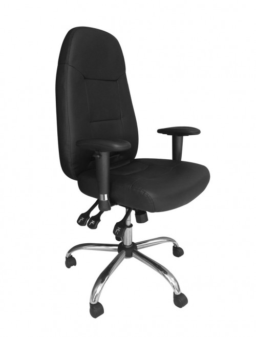 Eliza Tinsley Babylon 24 Hour Leather Operator Chair BCL/R440/BK