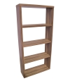 Alphason Maine Wide Bookcase in Walnut