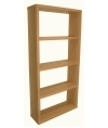 Alphason Maine Wide Bookcase in Beech