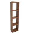 Alphason Maine Narrow Bookcase in Walnut
