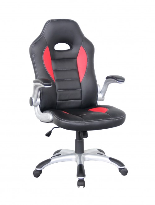 Talladega Black and Red Racing Style Office Chair AOC8211R