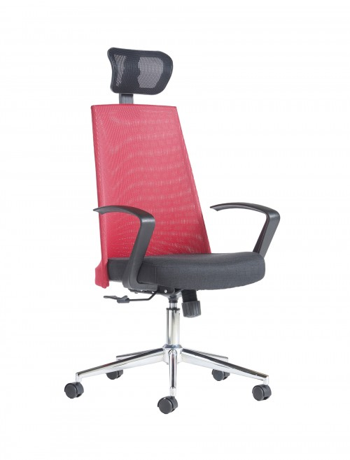 Dams Fabia High Back Mesh Office Chair FAB300T1-R