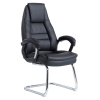 Nobel Leather Faced Executive Visitors Chair