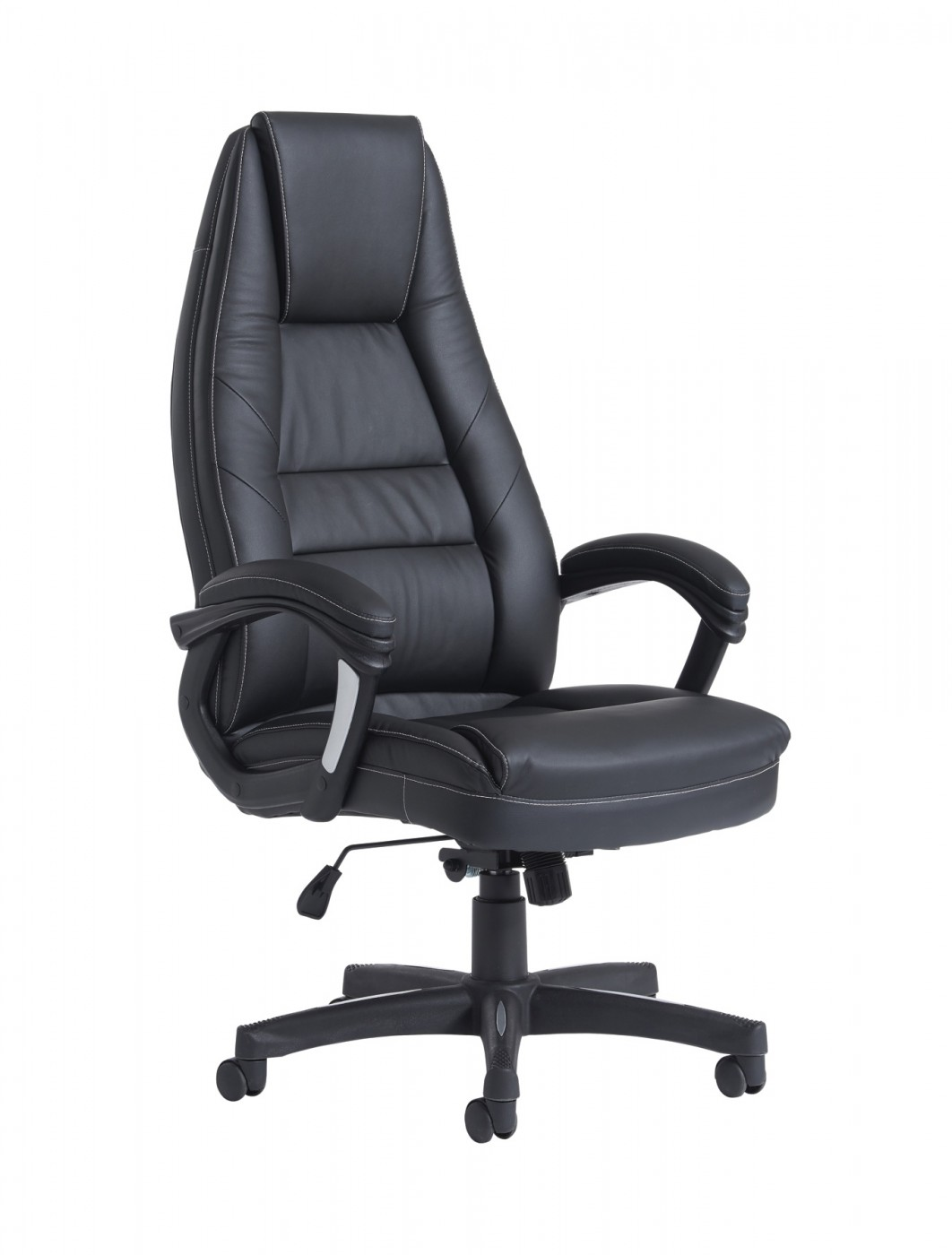 Office Chairs - Dams Noble Black Faux Leather Managers Chair NBO300T1