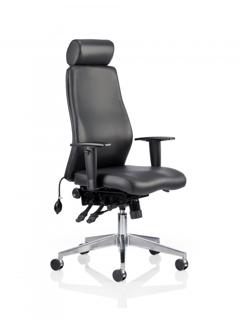 Onyx 24 Hour Leather Office Chair with Headrest OP000098