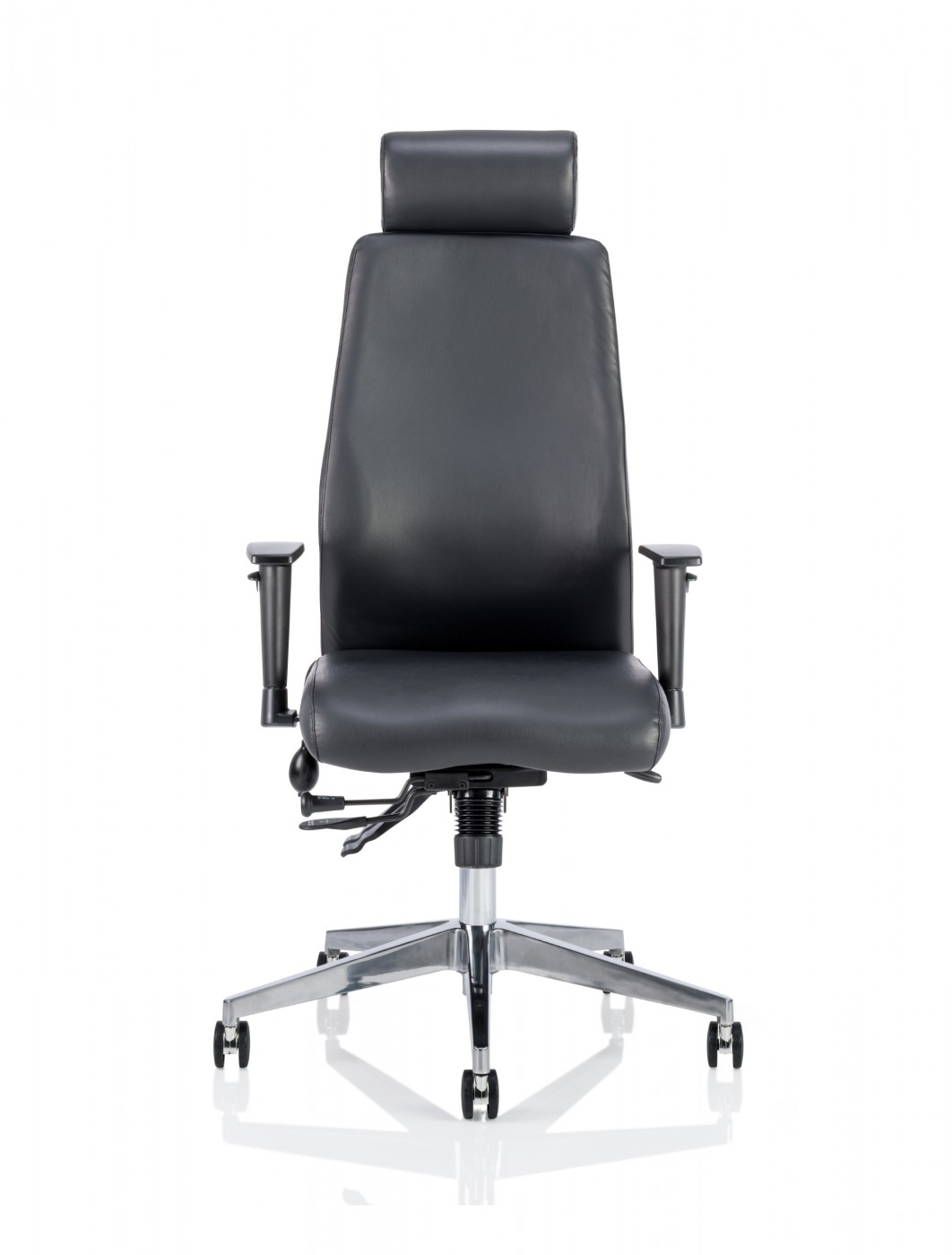Dynamic Onyx Leather Office Chair With Headrest Op000098
