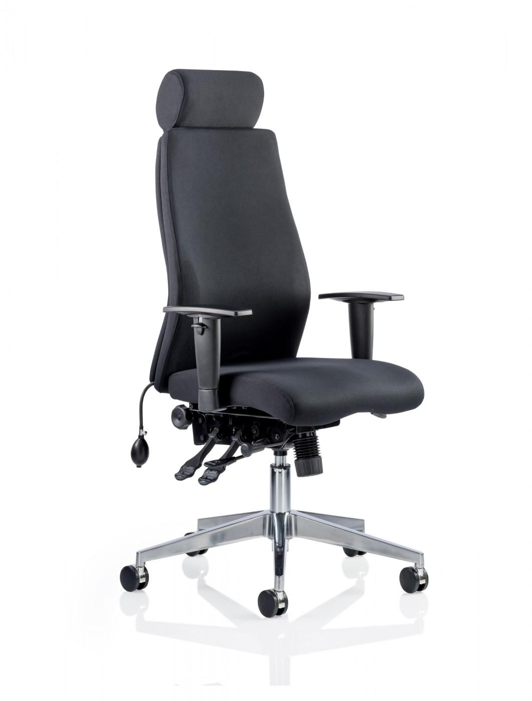 Dynamic Onyx Office Chair With Headrest