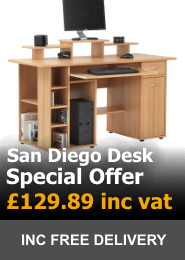 Alphason San Diego Home Office Desk