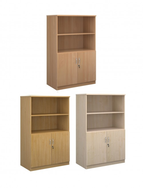 1600mm High Deluxe Combination Bookcase DO16 with Open Top
