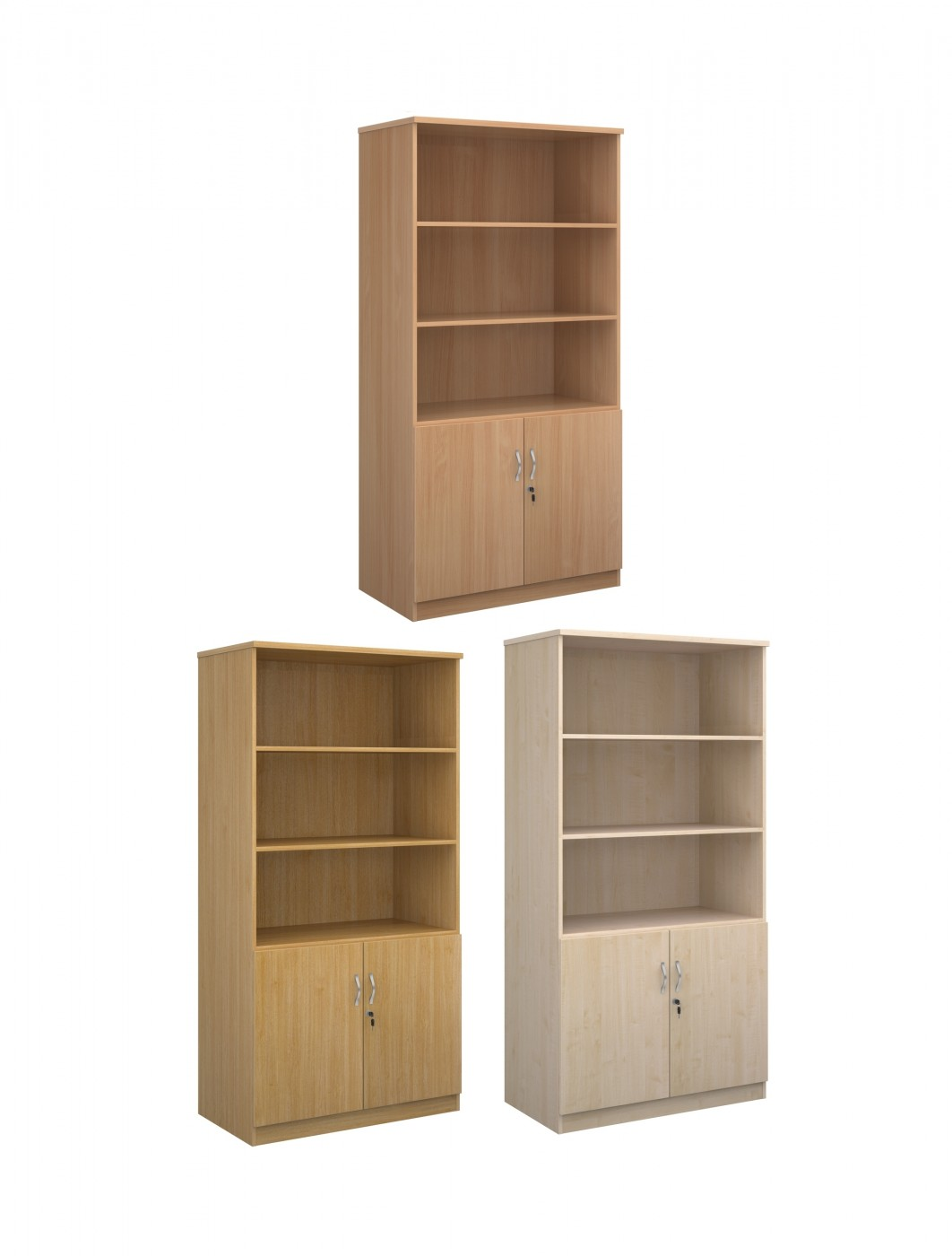 Marvelous photograph of DO20 2000mm High Deluxe Combination Bookcase DO20 with Open Top with #8C6C3F color and 1062x1400 pixels