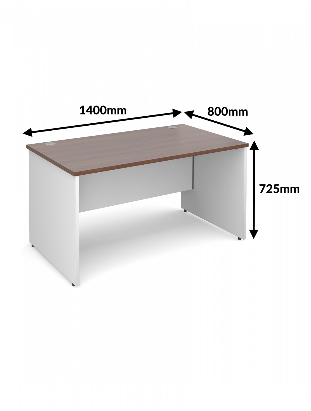 1400mm wide duo14s duo straight office desk 121 office for Office desk sizes