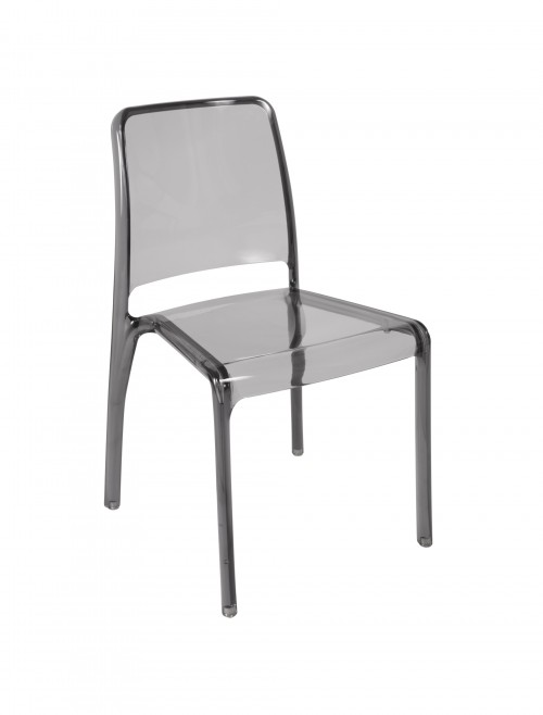 Clarity Designer Polycarbonate Chairs 6908 (Clear/Smoke) - 4 Pack