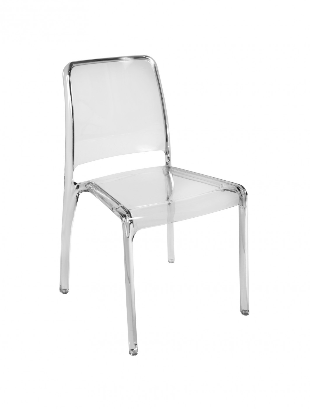 Perfect Clarity Designer Polycarbonate Chairs 6908 (Clear/Smoke)   4 Pack    Enlarged View