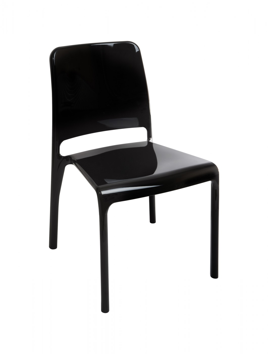 Clarity Designer Polycarbonate Chairs 6908 (Black/White)   4 Pack    Enlarged View