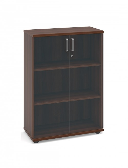 Dams Magnum Low Cupboard with Glass Doors MGLCGW - American Walnut