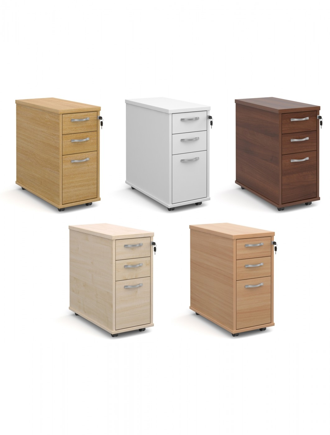 Narrow Pedestal : Dams Slim Line Mobile Pedestal TNMP with 2 Shallow Drawers and an A4 ...