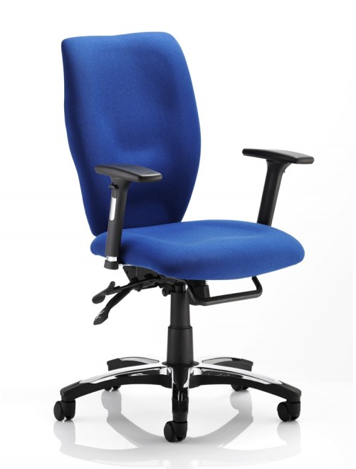 Dynamic Sierra High Back Fabric Task Chair OP000177 - Blue