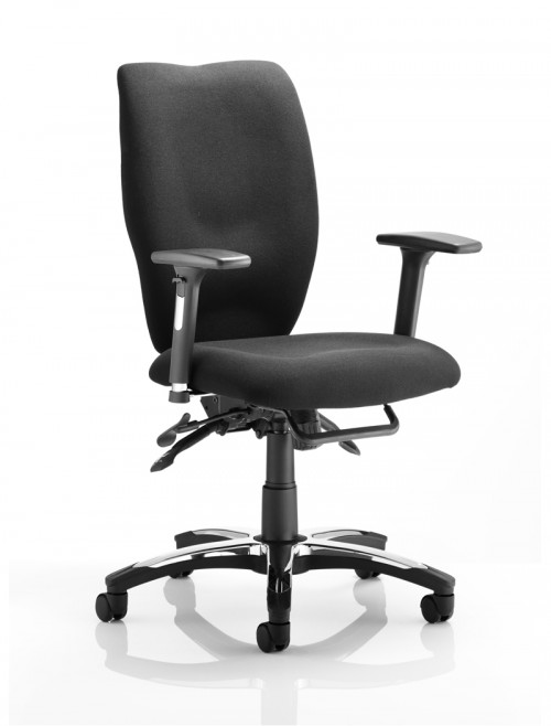 Dynamic Sierra High Back Fabric Task Chair OP000176 - Black