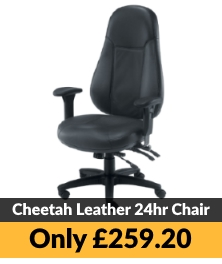TC Office Cheetah Leather 24hr Office Chair