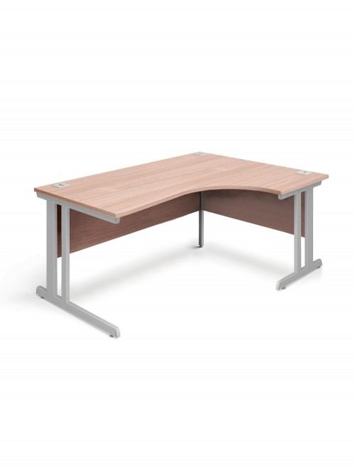 Beech Office Desk 1800mm Aspire Ergonomic Desk ET/ED/1800/RL/BE