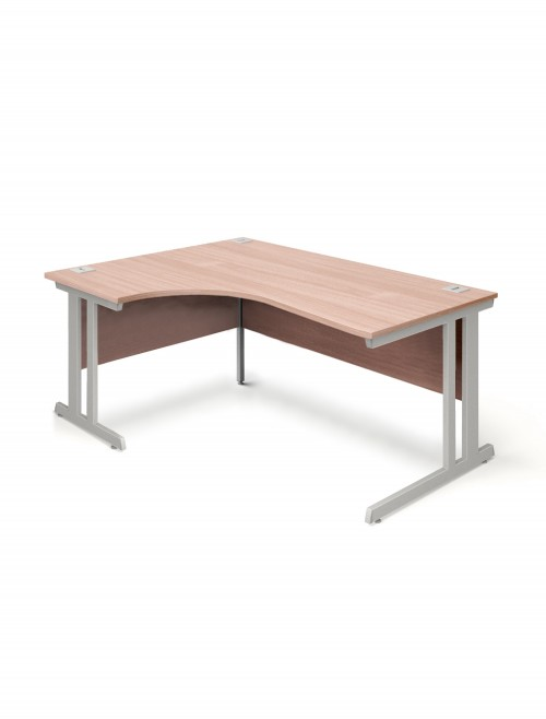 Beech Office Desk 1600mm Aspire Ergonomic Desk ET/ED/1600/RL/BE