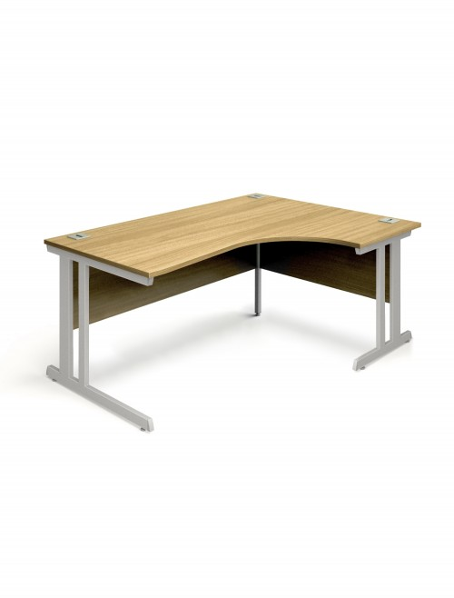 Oak Office Desk 1600mm Aspire Ergonomic Desk ET/ED/1600/RL/OK