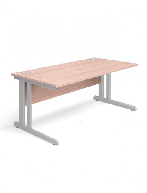 Beech Office Desk 1600x800mm Aspire Desk ET/SD/1600/BE
