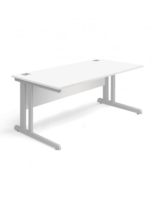 White Office Desk 1200x800mm Aspire Desk ET/SD/1200/WH