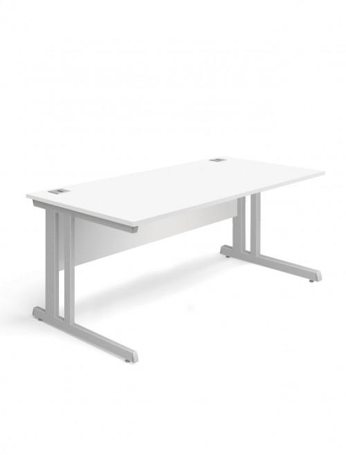 White Office Desk 1600x800mm Aspire Desk ET/SD/1600/WH