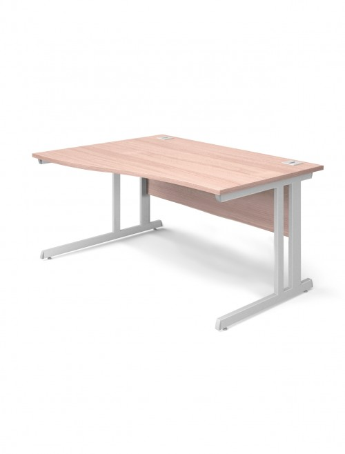 Beech Office Desk 1400mm Aspire Wave Desk ET/WV/1400/RL/BE