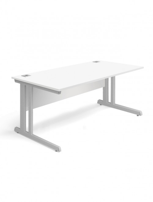White Office Desk 1400x800mm Aspire Desk ET/SD/1400/WH