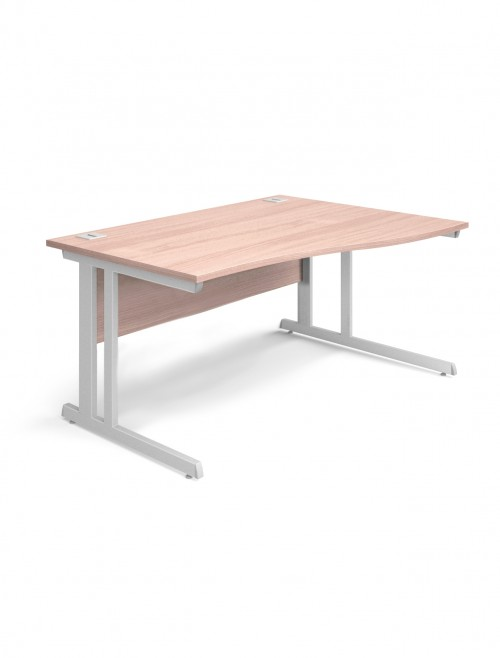 Beech Office Desk 1600mm Aspire Wave Desk ET/WV/1600/RL/BE