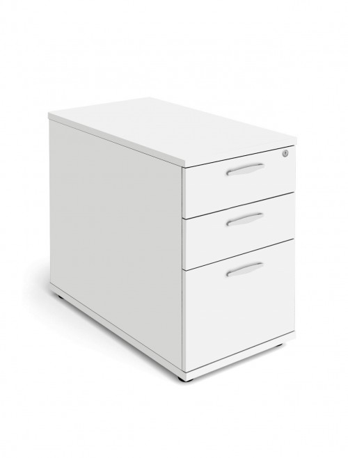 White Desk High Pedestal 800mm Deep Aspire Pedestal ET/PED/800/WH