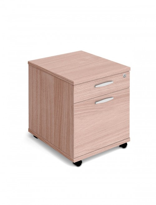 Beech Mobile Pedestal 2 Drawer Aspire Pedestal ET/MOBPED2/BE