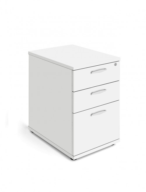 White Desk High Pedestal 600mm Deep Aspire Pedestal ET/PED/600/WH