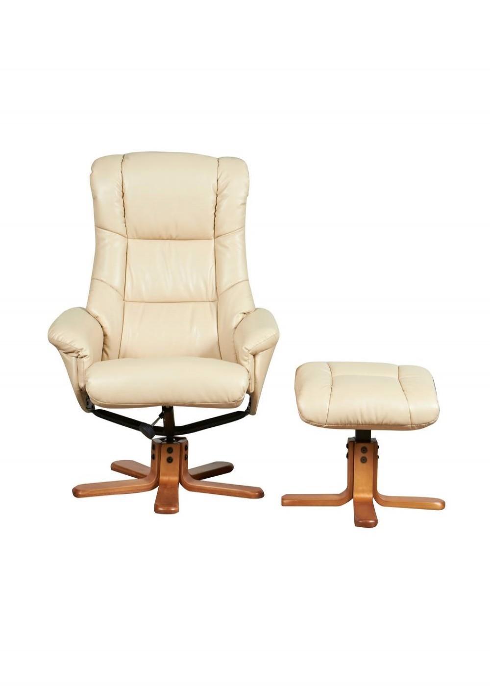chicago luxury recliner 6922 cream 121 office furniture