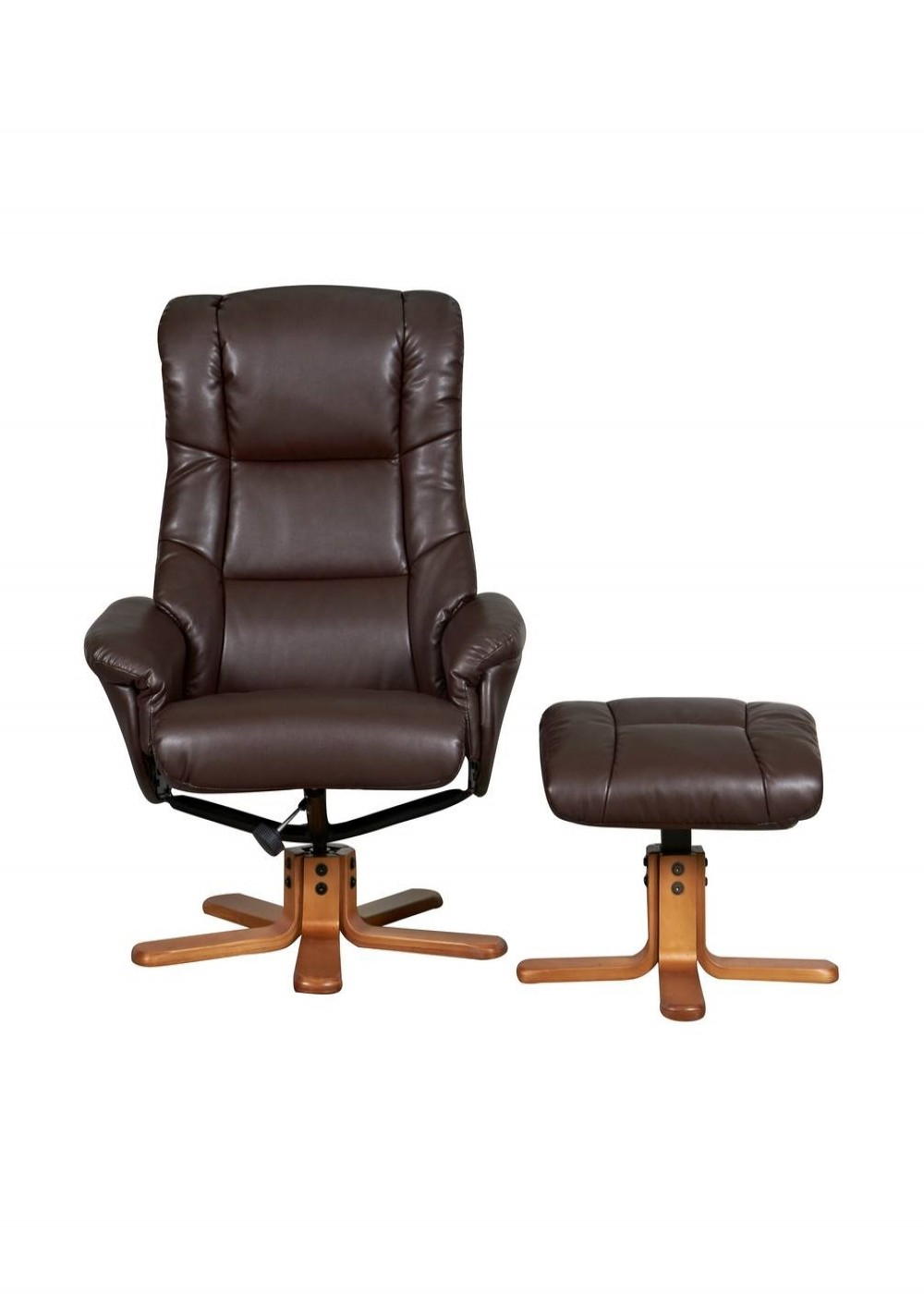 office recliner chair. Chicago Luxury Reclining Chair With Stool 6922 - Nut Brown Enlarged View Office Recliner