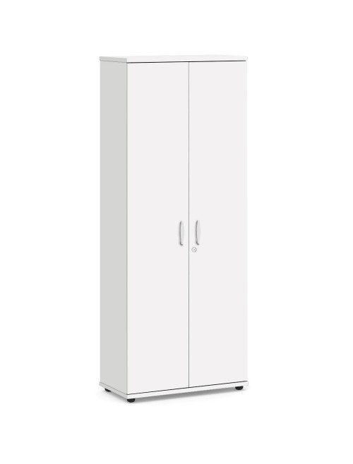White Office Cupboard 2000mm High Aspire Cupboard ET/CB/2000/WH