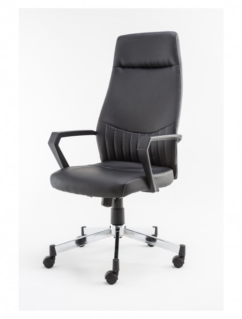 Office Chair Black Brooklyn Faux Leather Computer Chair AOC3122HB-BLK