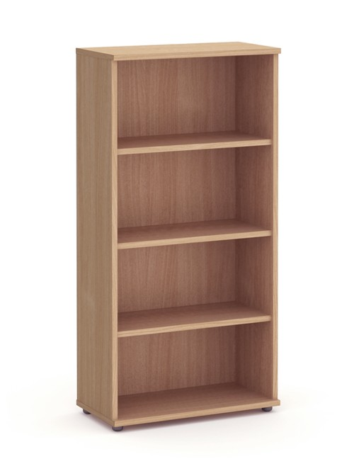 Beech Office Bookcase 2000mm High Aspire Bookcase ET/BC/2000/BE